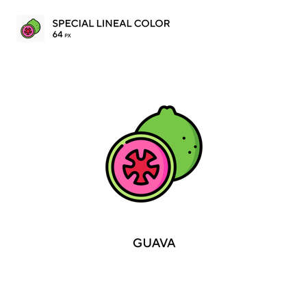 Guava Special lineal color vector icon. Guava icons for your business project