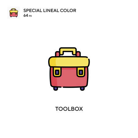 Toolbox Special lineal color vector icon. Toolbox icons for your business project