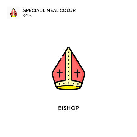 Bishop Special lineal color vector icon. Bishop icons for your business project