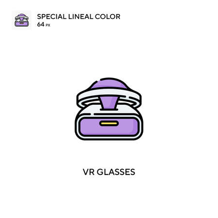 Vr glasses Special lineal color vector icon. Vr glasses icons for your business project