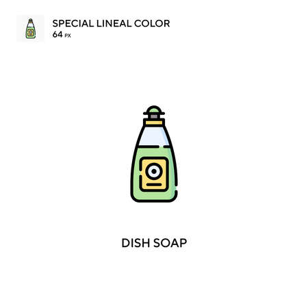 Dish soap Special lineal color vector icon. Dish soap icons for your business project Ilustrace