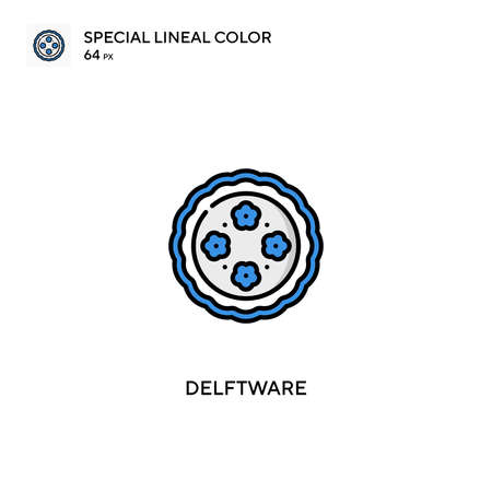 Delftware Special lineal color vector icon. Delftware icons for your business project Vettoriali