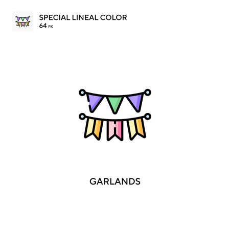 Garlands Special lineal color vector icon. Garlands icons for your business project