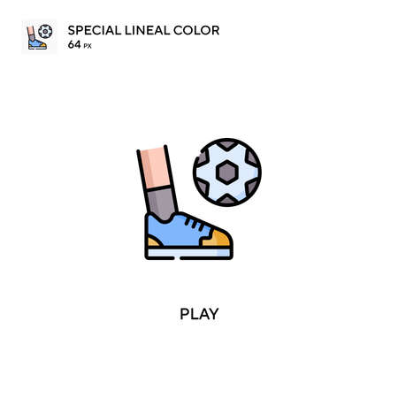 Play Special lineal color vector icon. Play icons for your business project