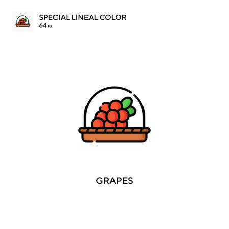 Grapes Special lineal color vector icon. Grapes icons for your business project