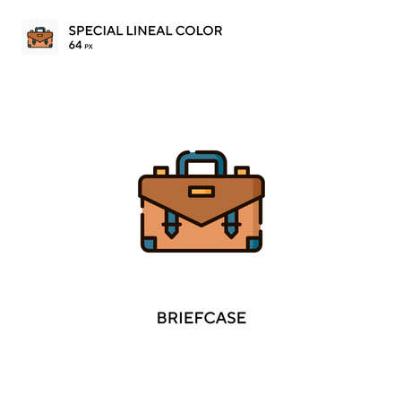 Briefcase Special lineal color vector icon. Briefcase icons for your business project