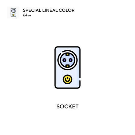 Socket Special lineal color vector icon. Socket icons for your business project Ilustrace