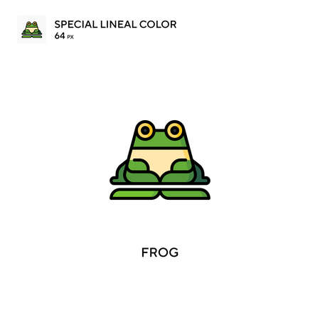 Frog Special lineal color vector icon. Frog icons for your business project Ilustração