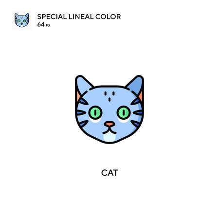 Cat Special lineal color vector icon. Cat icons for your business project