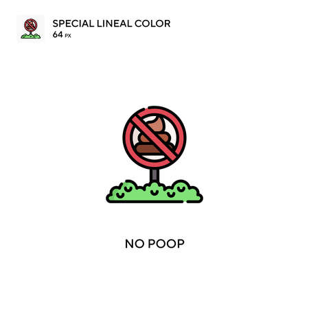 No poop Special lineal color vector icon. No poop icons for your business project