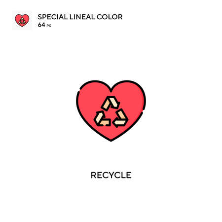 Recycle Special lineal color vector icon. Recycle icons for your business project