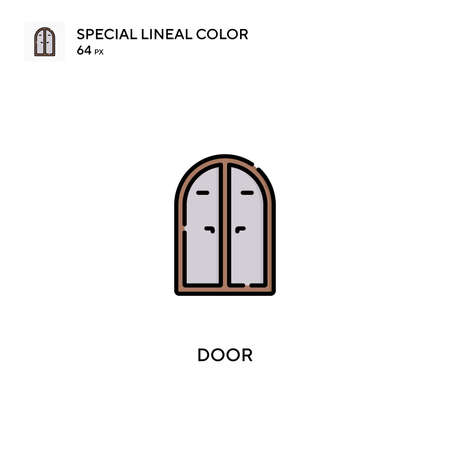 Door Special lineal color vector icon. Door icons for your business project