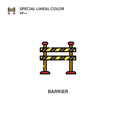 Barrier Special lineal color vector icon. Barrier icons for your business project