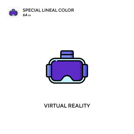Virtual reality Special lineal color vector icon. Virtual reality icons for your business project Çizim