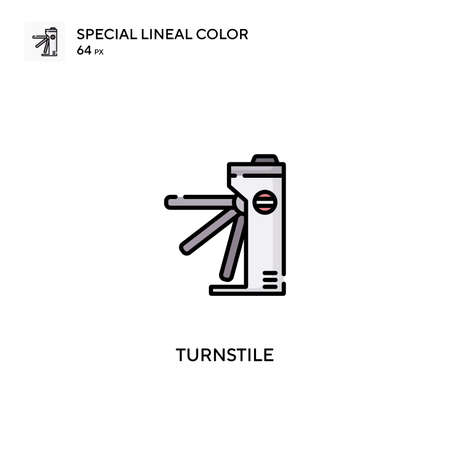 Turnstile Special lineal color vector icon. Turnstile icons for your business project