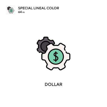 Dollar Special lineal color vector icon. Dollar icons for your business project