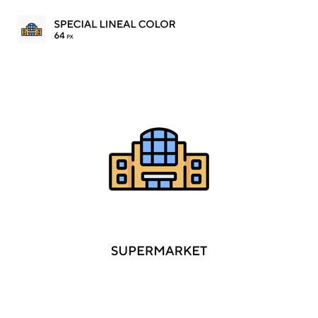 Supermarket Special lineal color vector icon. Supermarket icons for your business project
