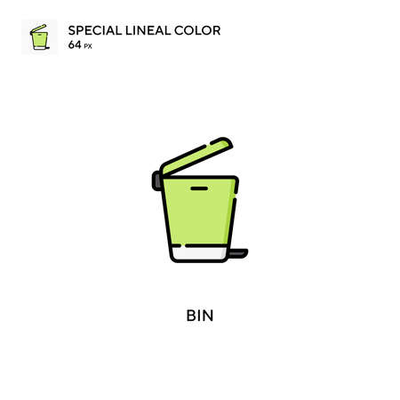 Bin Special lineal color vector icon. Bin icons for your business project