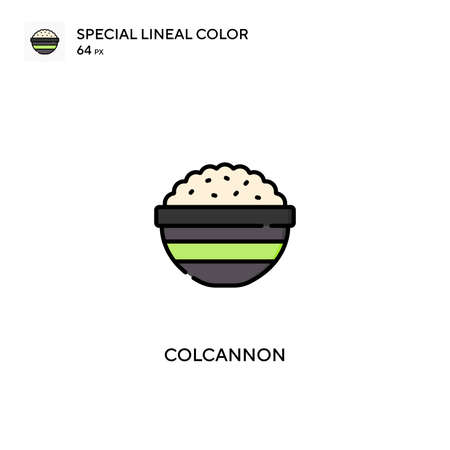 Colcannon Special lineal color vector icon. Colcannon icons for your business project