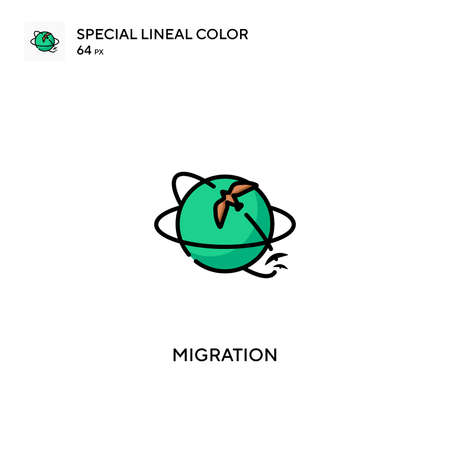 Migration Special lineal color vector icon. Migration icons for your business project