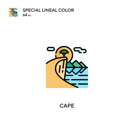 Cape Special lineal color icon.Cape icons for your business project