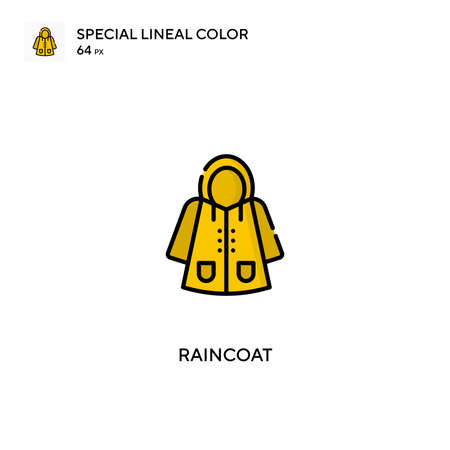 Raincoat Special lineal color icon.Raincoat icons for your business project