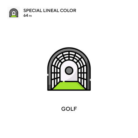 Golf Special lineal color icon. Golf icons for your business project