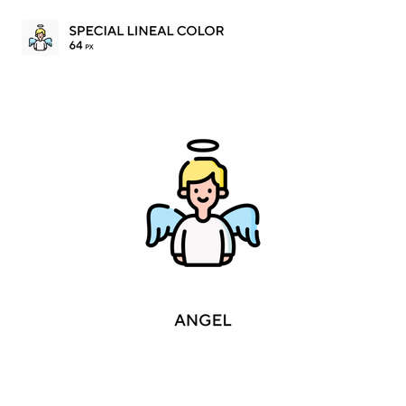 Angel Special lineal color icon.Angel icons for your business project