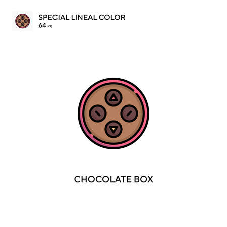 Chocolate box Special lineal color icon.Chocolate box icons for your business project