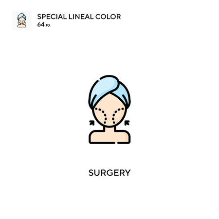 Surgery Special lineal color icon.Surgery icons for your business project