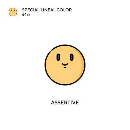 Assertive Special lineal color icon.Assertive icons for your business project