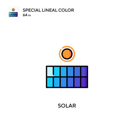 Solar Special lineal color icon.Solar icons for your business project