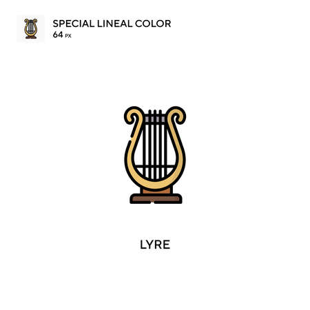 Lyre Special lineal color icon.Lyre icons for your business project