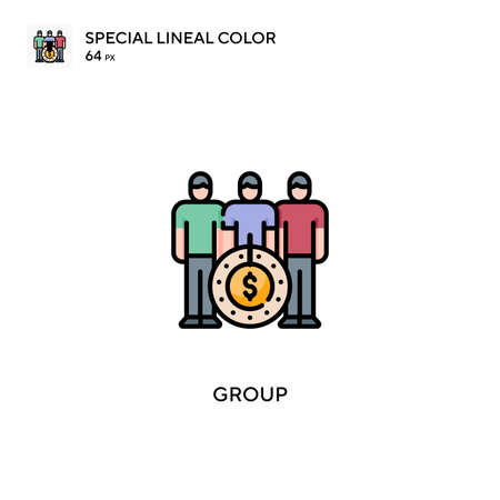Group Special lineal color icon.Group icons for your business project