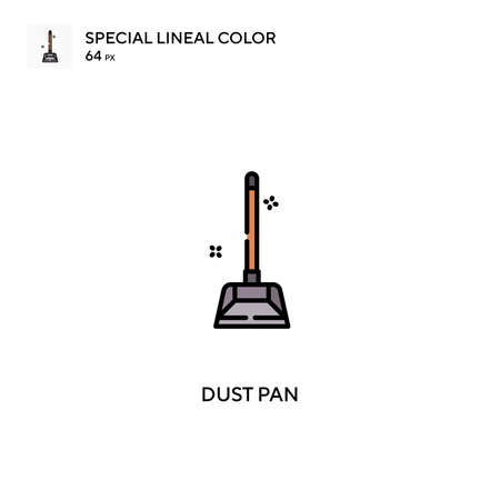 Dust pan Special lineal color icon.Dust pan icons for your business project Ilustrace