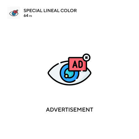 Advertisement Special lineal color icon.