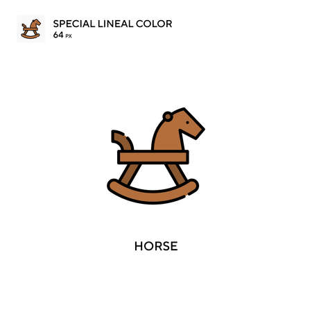 Horse Special lineal color icon.Horse icons for your business project