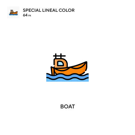 Boat Special lineal color icon.Boat icons for your business project