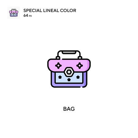 Bag Special lineal color icon.Bag icons for your business project Ilustrace