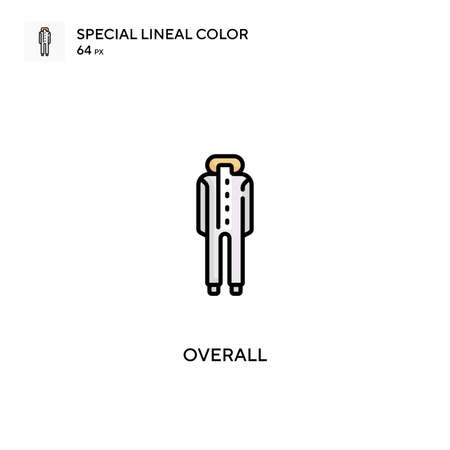 Overall Special lineal color icon.Overall icons for your business project