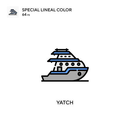 Yatch special lineal color vector icon. Illustration symbol design template for web mobile UI element.
