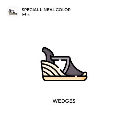 Wedges special lineal color vector icon. Illustration symbol design template for web mobile UI element. Vettoriali