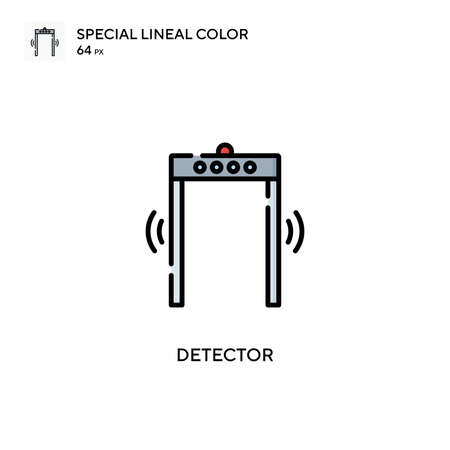 Detector special lineal color vector icon. Illustration symbol design template for web mobile UI element. Vettoriali