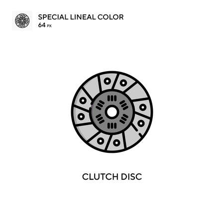 Clutch disc special lineal color vector icon. Illustration symbol design template for web mobile UI element.