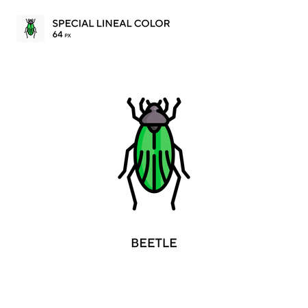 Beetle Special lineal color icon. Illustration symbol design template for web mobile UI element. Perfect color modern pictogram on editable stroke. 向量圖像