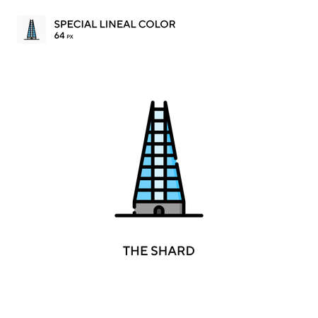 The shard Special lineal color icon. Illustration symbol design template for web mobile UI element. Perfect color modern pictogram on editable stroke.