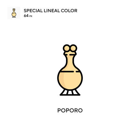 Poporo Special lineal color icon. Illustration symbol design template for web mobile UI element. Perfect color modern pictogram on editable stroke.