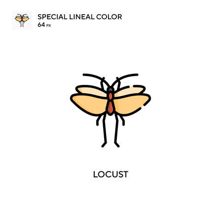 Locust Special lineal color icon. Illustration symbol design template for web mobile UI element. Perfect color modern pictogram on editable stroke.