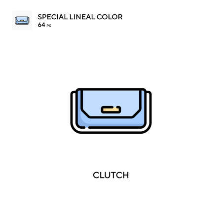 Clutch Special lineal color icon. Illustration symbol design template for web mobile UI element. Perfect color modern pictogram on editable stroke.