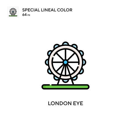 London eye Special lineal color icon. Illustration symbol design template for web mobile UI element. Perfect color modern pictogram on editable stroke.